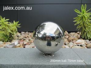 200mm Stainless Steel Ball on 75mm Hemisphere