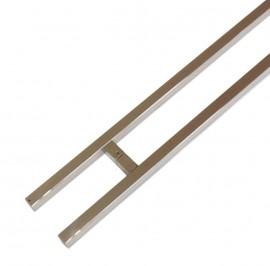 25mm x 25mm Square 1500mm Pair Stainless Steel Door Handles
