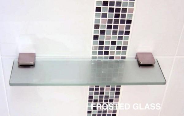 home bathroom fittings glass shower shelves glass shelf 400mm x 100mm