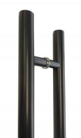 32mm Round BLACK Pair Stainless Steel Door Handles -500-625-900-1000-1200-1500-1800