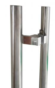 32mm Round OFFSET Pair Stainless Steel Door Handles - 500-625-900-1000-1200-1500-1800