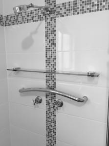 Grab Rail Curved Toilet/Shower 900mm Stainless Steel Round