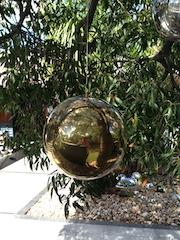Hanging Gold Stainless Steel Ball 250mm