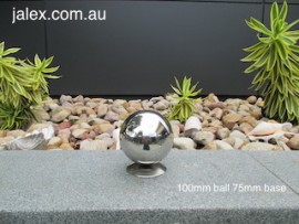 100mm Stainless Steel Ball on 75mm Hemisphere