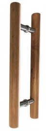 Clear finished Tas Oak Pair Timber Handles 450mm