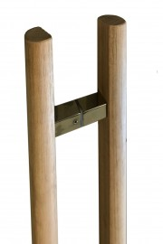 Unfinished Tas Oak Timber Half Round Pair Handles 600mm -900mm -1200mm