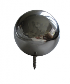 Wall Mounted Stainless Steel Ball with thread &  screw fixing