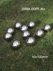 Ball Set 10 x 100mm Stainless Steel Balls