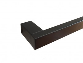 Towel Rail Black 25x13mm  Rectangle Design Various Lengths TR3