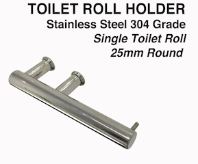 Round Single Design Stainless Steel Toilet Roll Holder